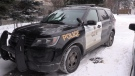 An OPP vehicle is seen in Collingwood, Ont. on Tuesday, Jan. 22, 2019 (CTV News/Roger Klein)