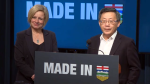 Premier Rachel Notley and industry representatives provided an update on a new private-sector investment on Tuesday, January 22, 2019.