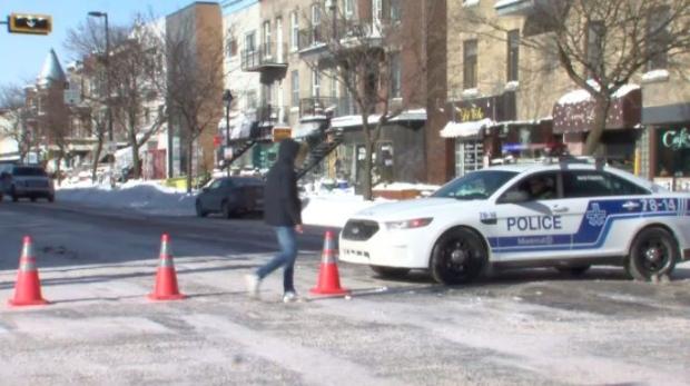 The pedestrian was struck on Park Ave. near St-Joseph Blvd.
