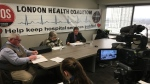 The Ontario Health Coalition discusses their report, 'Situation Critical' on homicides in long-term care homes, in London, Ont. on Tuesday, Jan. 22, 2019. (Celine Moreau / CTV London)