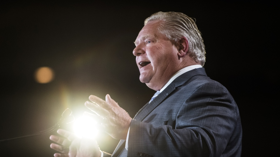Ontario Premier Doug Ford speaks at the Economic Club of Canada in Toronto on Monday, January 21, 2019. THE CANADIAN PRESS/Nathan Denette