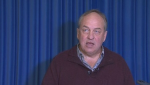 B.C. Green Party Leader Andrew Weaver speaks to reporters at the B.C. Legislature in Victoria Tues., Jan. 22, 2019. (CTV Vancouver Island)