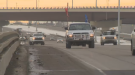 A small convoy took to Edmonton streets on Jan. 22, 2019.