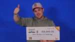 Dalin Hamilton won a $150,000 prize off of an instant lottery game. (Source: OLG)