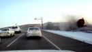 Dashcam captures CN train derailment