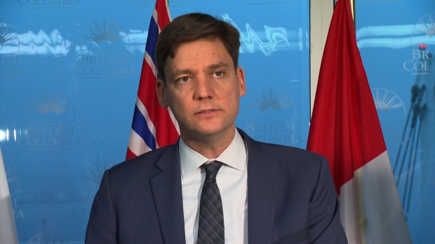 David Eby discusses money laundering on Jan. 22, 2019. (CTV Vancouver)