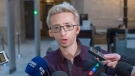 Jeremy Gabriel speaks to the media at the Quebec Appeal Court Wednesday, January 16, 2019 in Montreal. THE CANADIAN PRESS/Ryan Remiorz