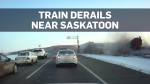 Dashcam video shows the moment a train derails