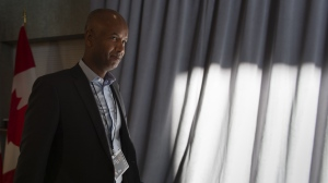Immigration Minister Ahmed Hussen arrives for a cabinet meeting in Sherbrooke, Que. on Thursday, January 17, 2019. THE CANADIAN PRESS/Paul Chiasson