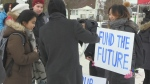 Laurier students protest Ford Government changes