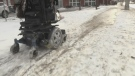 Snowy sidewalks pose mobility issues