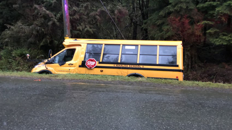 School bus crash near Mission