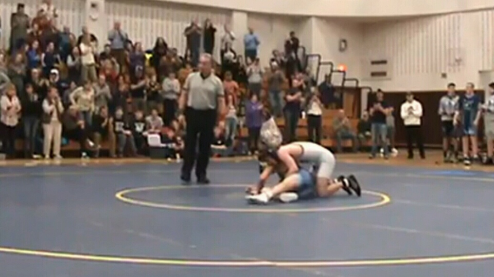High school wrestling match