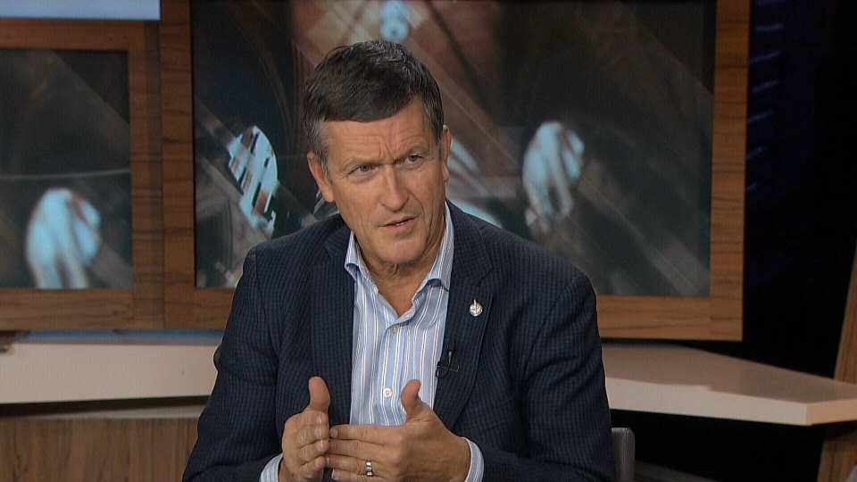 Burnaby North—Seymour NDP candidate Svend Robinson speaks to CTV's Power Play, on Tuesday, Jan. 22, 2019.