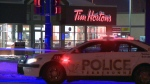 Terrebonne/Sainte Anne des Plaines/Bois des Filion police evacuated a Tim Hortons restaurant and closed streets after a briefcase was placed on a garbage can.