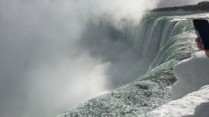 Icy conditions at Niagara Falls during a cold snap on Jan. 22, 2019. (Ally Hindman via Storyful)