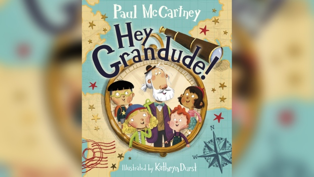 The cover of Paul McCartney's children's book 'Hey Grandude!' is shown in a handout photo. (Penguin Random House / THE CANADIAN PRESS / HO)