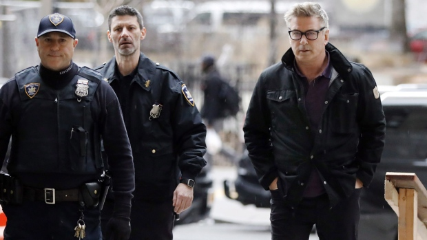Actor Alec Baldwin arrives at New York Supreme Court, on Nov. 26, 2018. (Richard Drew / AP)