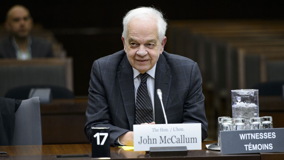 Canada's ambassador to China, John McCallum, waits to brief members of the Foreign Affairs committee regarding China in Ottawa on Friday, Jan. 18, 2019. THE CANADIAN PRESS/Sean Kilpatrick