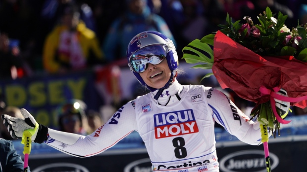 Lindsey Vonn in Cortina D'Ampezzo, Italy