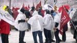 GM workers protest in Oshawa