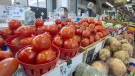 A vegetable stand is seen at the Jean Talon Market where Canada's new Food Guide was unveiled, Tuesday, January 22, 2019 in Montreal. THE CANADIAN PRESS/Ryan Remiorz