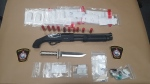 Police say they seized several illicit drugs and a sawed-off shotgun. (Source: Saugeen Shores Police Service)