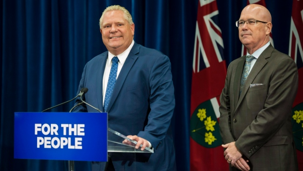 Ontario Premier Doug Ford and Steve Clark