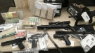 A 10-month investigation linked to the Red Scorpions, a well-known B.C. gang, has led to the seizure of drugs, firearms and thousands of dollars in cash. Jan. 23, 2019 (CTV Vancouver Island)
