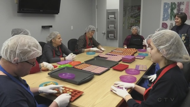 Ont. program teaching adults with disabilities life skills by making dog treats