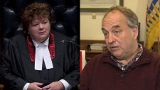 MLA Linda Reid (left) and Green Part Leader Andrew Weaver are seen in these undated images.