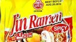 Ottogi brand Jin Ramen Spicy is seen in this handout photo. (CFIA / HO)