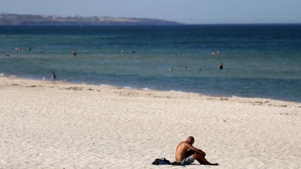 Glenelg Beach in Adelaide, Australia