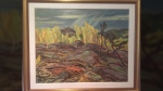 "The oil painting by Group of Seven artist A.Y. Jackson is titled ""Sun Gleams: Autumn, North Saskatchewan."""