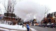 Montreal man throws boiling water in the air