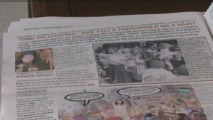 The 'Your Ward News' paper was distributed in some areas across Barrie. (CTV News)