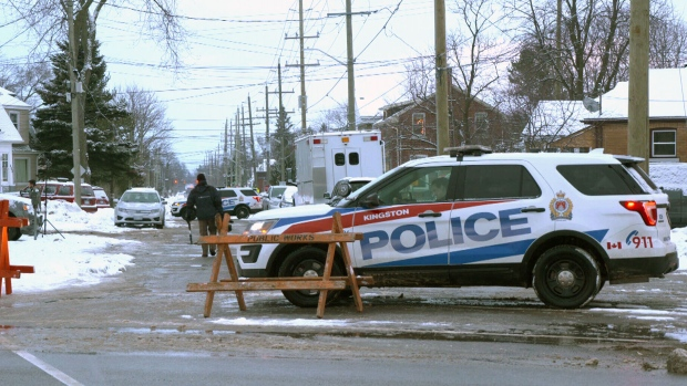 Police activity in Kingston, Ont., Friday, Jan. 25