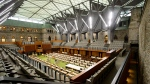 The new temporary House of Commons is viewed prior to a ceremonial handover marking the completion of the restoration and modernization of the West Block on Thursday, Nov. 8, 2018. THE CANADIAN PRESS/Sean Kilpatrick