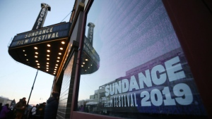 The sun rises outside the Egyptian Theatre during the 2019 Sundance Film Festival, Friday, Jan. 25, 2019, in Park City, Utah. (Photo by Danny Moloshok/Invision/AP)
