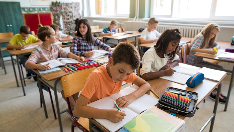 Stock photo of a classroom. (skynesher / IStock.com)