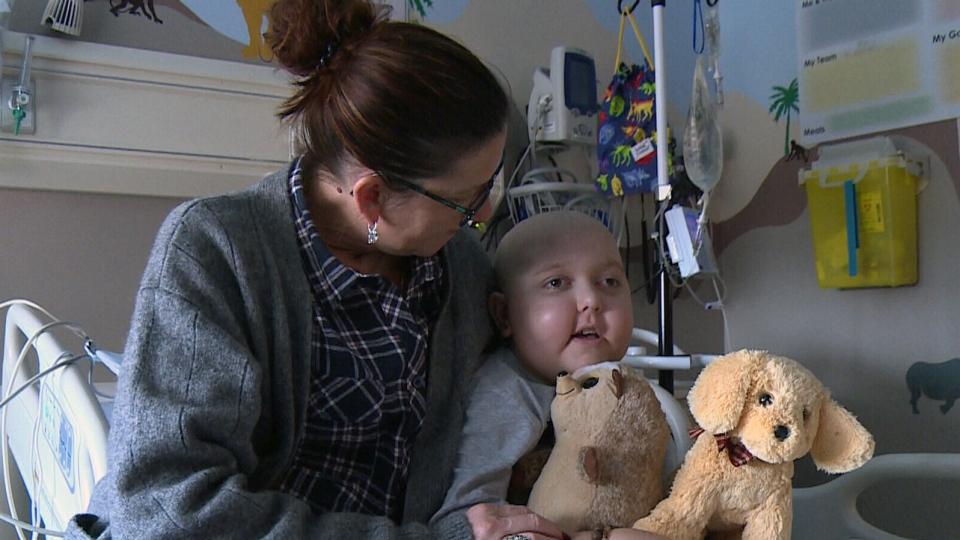 Huntre Allard, nine, is fighting brain cancer.