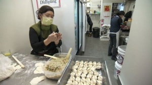 The NDG dumpling shop makes its dumplings my hand. Founder Jiayi Du's kids encouraged her to share her dumplings with the world.