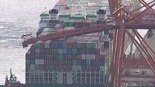 Aerials of crane accident in Vancouver