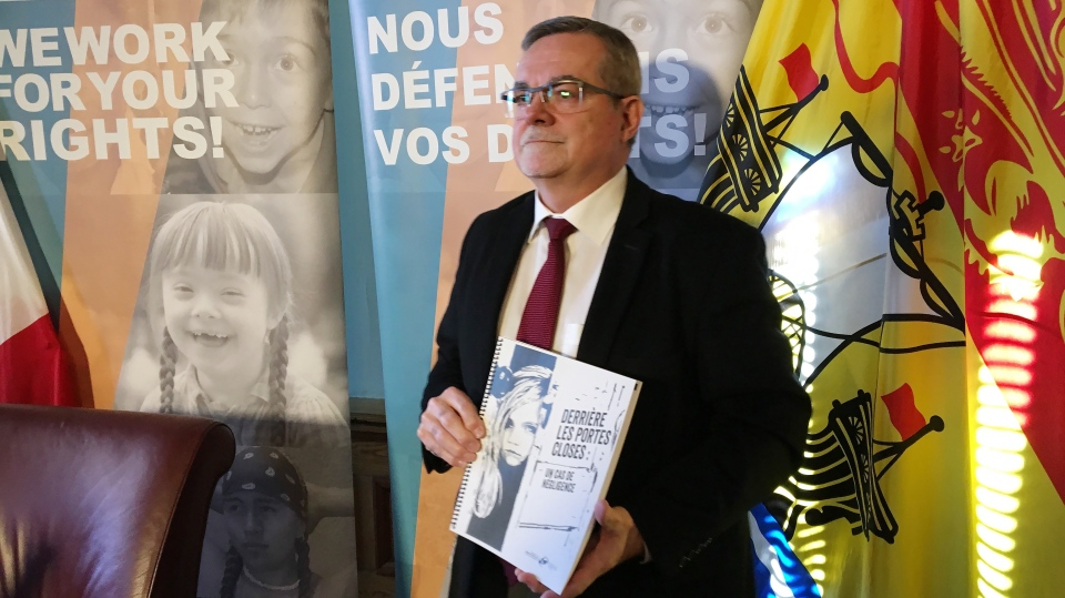 New Brunswick Child and Youth Advocate Norman Bosse releases a report in Fredericton on Monday, January 28, 2019. (THE CANADIAN PRESS/Kevin Bissett)