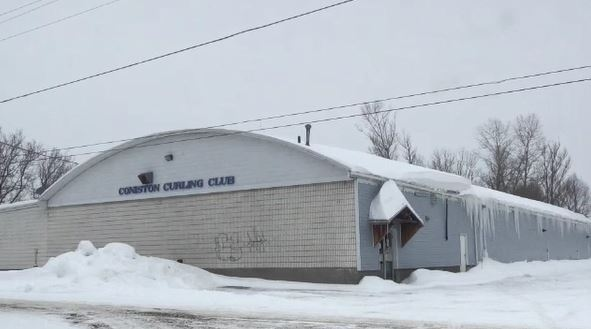The Coniston Curling Club was forced to close in January 2019 because of problems with its roof. A provincial grant has funded repairs and the club is now open. (File)