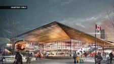 CMLC - Calgary Event Centre artist rendering