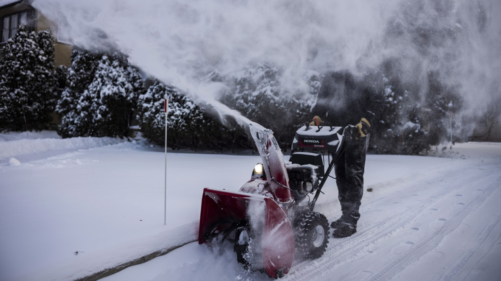 Clearing snow in Minneapolis