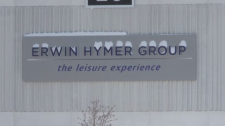 Snow on the Erwin Hymer Group sign