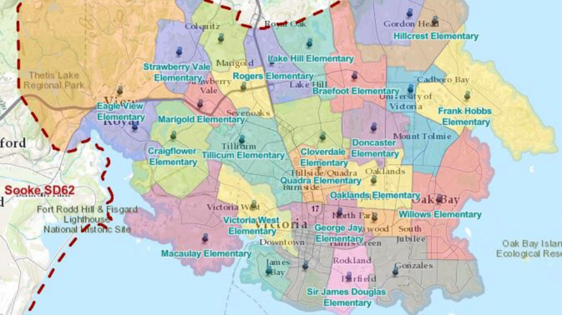 proposed catchments SD61 map
