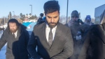 Jaskirat Singh Sidhu the driver of the truck that struck the bus carrying the Humboldt Broncos hockey team, arrives for the second day of his sentencing hearing, Tuesday, January 29, 2019 in Melfort, Sask. (THE CANADIAN PRESS/Ryan Remiorz)